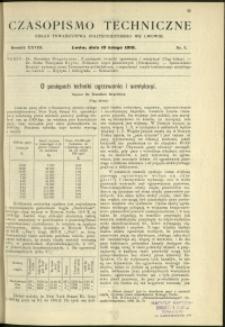 Czasopismo Techniczne : 1910 : nr 3