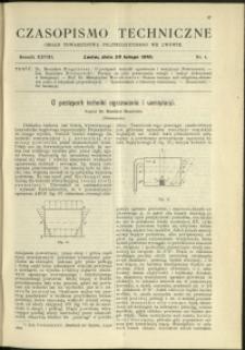Czasopismo Techniczne : 1910 : nr 4