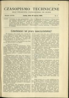 Czasopismo Techniczne : 1910 : nr 5