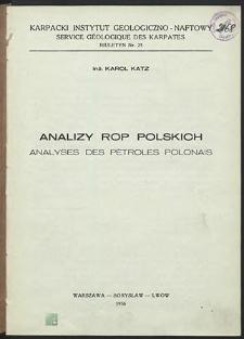 Analizy rop polskich