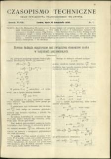 Czasopismo Techniczne : 1910 : nr 7