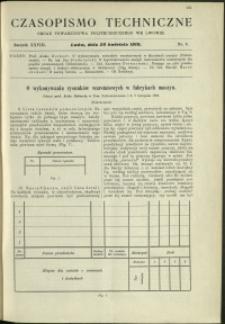 Czasopismo Techniczne : 1910 : nr 8