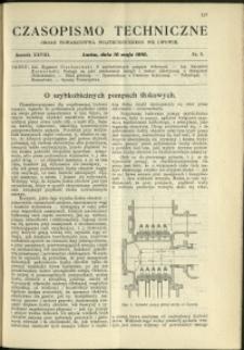 Czasopismo Techniczne : 1910 : nr 9