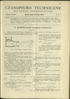 Czasopismo Techniczne : 1910 : nr 10