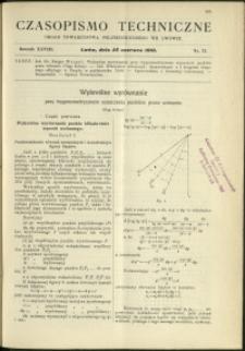 Czasopismo Techniczne : 1910 : nr 12