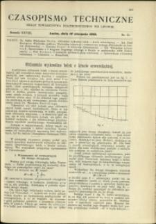 Czasopismo Techniczne : 1910 : nr 15