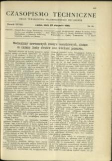 Czasopismo Techniczne : 1910 : nr 16
