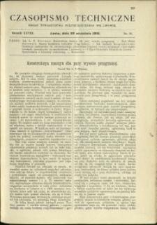 Czasopismo Techniczne : 1910 : nr 18