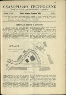 Czasopismo Techniczne : 1910 : nr 22