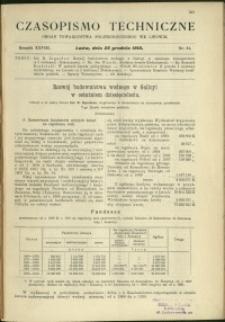 Czasopismo Techniczne : 1910 : nr 24