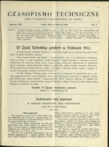Czasopismo Techniczne : 1912 : nr 2