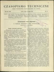 Czasopismo Techniczne : 1912 : nr 4