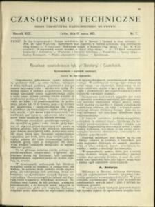 Czasopismo Techniczne : 1912 : nr 7