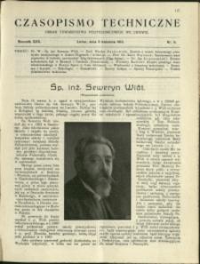 Czasopismo Techniczne : 1912 : nr 9