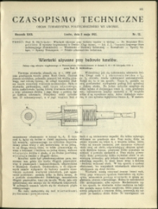 Czasopismo Techniczne : 1912 : nr 12