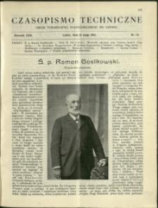 Czasopismo Techniczne : 1912 : nr 13