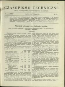 Czasopismo Techniczne : 1912 : nr 14