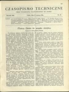 Czasopismo Techniczne : 1912 : nr 16
