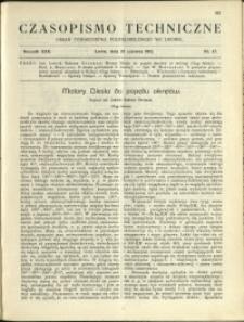Czasopismo Techniczne : 1912 : nr 17