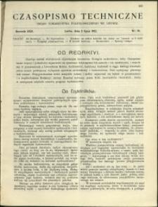Czasopismo Techniczne : 1912 : nr 18