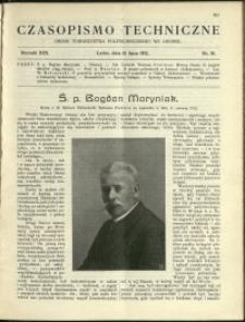 Czasopismo Techniczne : 1912 : nr 19