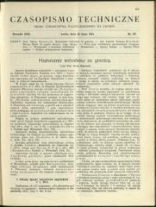 Czasopismo Techniczne : 1912 : nr 20