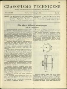 Czasopismo Techniczne : 1912 : nr 22