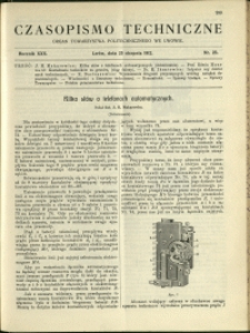 Czasopismo Techniczne : 1912 : nr 23