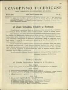 Czasopismo Techniczne : 1912 : nr 24