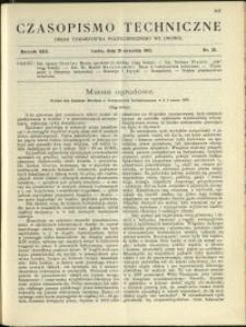 Czasopismo Techniczne : 1912 : nr 25