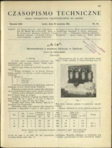 Czasopismo Techniczne : 1912 : nr 26