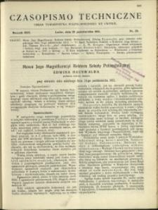 Czasopismo Techniczne : 1912 : nr 29