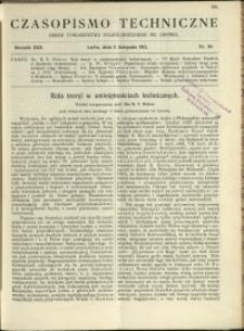 Czasopismo Techniczne : 1912 : nr 30