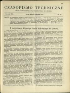 Czasopismo Techniczne : 1912 : nr 32