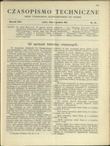 Czasopismo Techniczne : 1912 : nr 33