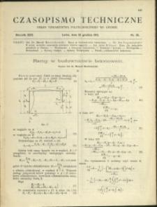 Czasopismo Techniczne : 1912 : nr 35