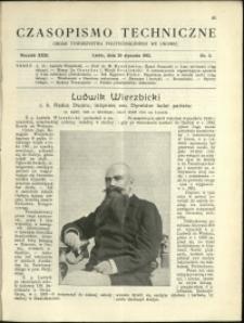 Czasopismo Techniczne : 1913 : nr 3