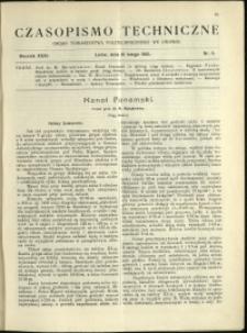 Czasopismo Techniczne : 1913 : nr 5