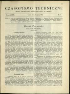 Czasopismo Techniczne : 1913 : nr 7