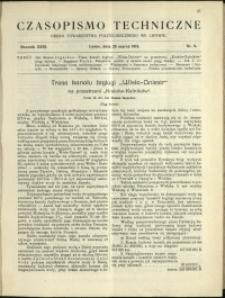 Czasopismo Techniczne : 1913 : nr 9