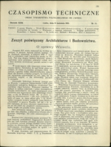 Czasopismo Techniczne : 1913 : nr 11