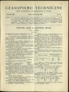 Czasopismo Techniczne : 1913 : nr 13