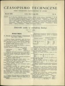 Czasopismo Techniczne : 1913 : nr 14