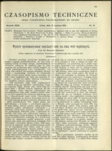 Czasopismo Techniczne : 1913 : nr 17