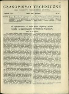 Czasopismo Techniczne : 1913 : nr 19