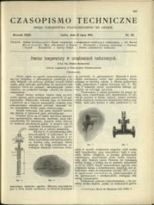Czasopismo Techniczne : 1913 : nr 20