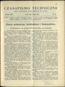 Czasopismo Techniczne : 1913 : nr 21
