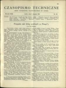 Czasopismo Techniczne : 1913 : nr 22