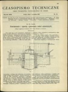 Czasopismo Techniczne : 1913 : nr 25