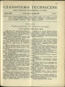 Czasopismo Techniczne : 1913 : nr 27